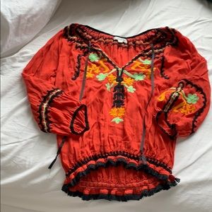 Poupette st barths red blouse